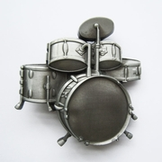 New Vintage Drum Kit Music Belt Buckle Gurtelschnalle Boucle de ceinture BUCKLE-MU011AS