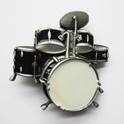 New Vintage Drum Kit Black Enamel Music Belt Buckle Gurtelschnalle Boucle de ceinture BUCKLE-MU011BK