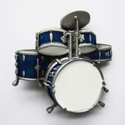 New Vintage Drum Kit Blue Enamel Music Belt Buckle Gurtelschnalle Boucle de ceinture BUCKLE-MU011BL