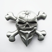 New Vintage Skull Masks Cut Out Belt Buckle Gurtelschnalle Boucle de ceinture