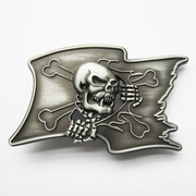 New Vintage Pirate Skull Flag Belt Buckle Gurtelschnalle Boucle de ceinture