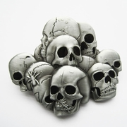 New Vintage Pile Of Skulls Belt Buckle Gurtelschnalle Boucle de ceinture BUCKLE-SK019