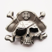 New Vintage Enamel Skull Bone Pirate Hat Eye Patch Belt Buckle Gurtelschnalle Boucle de ceinture BUCKLE-SK017