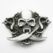 New Vintage Cross Knife Emo Skull Biker Rider Belt Buckle