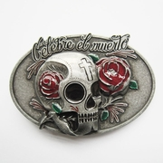 New Oval Vintage Distressed Tattoo Skull Belt Buckle Gurtelschnalle Boucle de ceinture