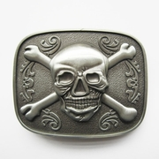 New Vintage Skull Bones Jolly Roger Pirate Belt Buckle