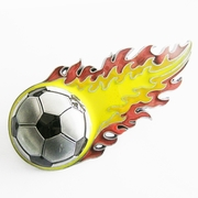New Vintage Flaming Football Belt Buckle Gurtelschnalle Boucle de ceinture