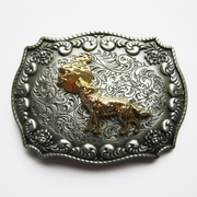 JEAN'S FRIEND New Original Western Cowboy Wildlife Wolf Double Color Belt Buckle Gurtelschnalle Boucle de ceinture