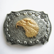 JEAN'S FRIEND New Original Western Cowboy Wildlife Eagle Head Double Color Belt Buckle Gurtelschnalle Boucle de ceinture