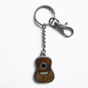 New Vintage Guitar Music Metal Charm Pendant Key Ring Key Chain