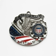 New Vintage Hero Coast Guard Metal Charm Pendant