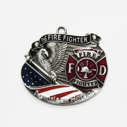 New Vintage Hero Fire Fireman Firefighter Metal Charm Pendant