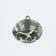 Fly Eagle Star Flag Metal Charm Pendant