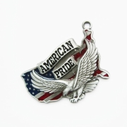 New Vintage Fly Eagle American Pride Metal Charm Pendant