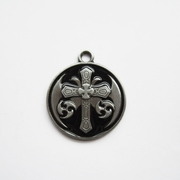 Pendant (Black Celtic Keltic Cross Knot)