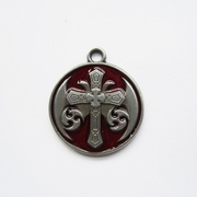 Pendant (Red Celtic Keltic Cross Knot)