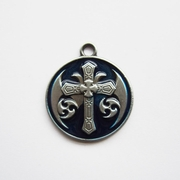 Pendant (Blue Celtic Keltic Cross Knot)