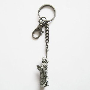 New Vintage Metal Biker Rider Key Ring Key Chain