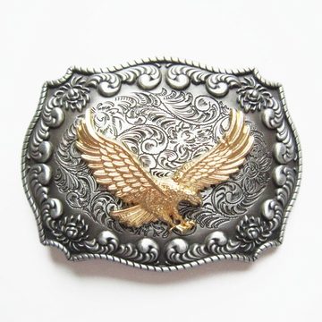 JEAN'S FRIEND New Original Western Rodeo Fly Eagle Double Color Belt Buckle Gurtelschnalle Boucle de ceinture