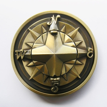 New Vintage Bronze Plated Compass Star Belt Buckle Gurtelschnalle Boucle de ceinture