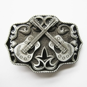 New Vintage Enamel Western Country Cross Guitar Music Belt Buckle Gurtelschnalle Boucle de ceinture