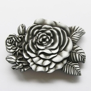 New Vintage Western Rose Flower Belt Buckle Gurtelschnalle Boucle de ceinture