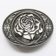 New Vintage Oval Rose Flower Western Belt Buckle Gurtelschnalle Boucle de ceinture