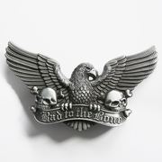 Vintage New Eagle Skull Bones Bad to the Bone Belt Buckle Gurtelschnalle Boucle de ceinture