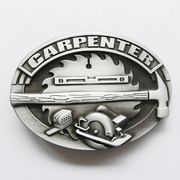 New Vintage Tradesman Carpenter Hammer Tool Oval Belt Buckle Gurtelschnalle Boucle de ceinture