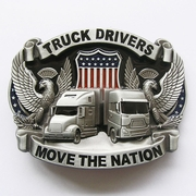 New Vintage Enamel Nation Road Truck Driver Belt Buckle Gurtelschnalle Boucle de ceinture