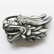 New Vintage 3D Cut Out Dragon Head Belt Buckle Gurtelschnalle Boucle de ceinture