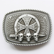 New Vintage Celtic Shield Skull Sword Belt Buckle Gurtelschnalle Boucle de ceinture