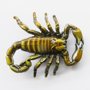 New Vintage Scorpion Yellow Enamel Belt Buckle Gurtelschnalle Boucle de ceinture