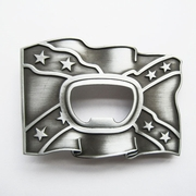 New Vintage Star Beer Bottle Opener Flag Belt Buckle Gurtelschnalle Boucle de ceinture