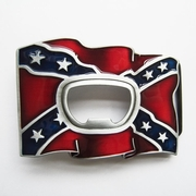 New Vintage Enamel Beer Bottle Opener Flag Belt Buckle Gurtelschnalle Boucle de ceinture