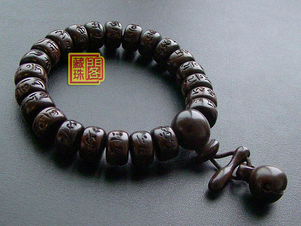 12mm Om Wrist Malas Bracelet Tibetan Prayer Beads