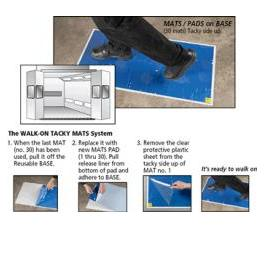 "TACKY MATS REUSABLE BASE w/24"" x 36"" PAD <BR> <FONT SIZE=""1""><i>[RB368]</i></FONT SIZE=""1"">"