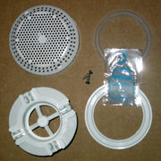 Suction Faceplate Repair Kit - White