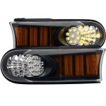 FJ CRUISER L.E.D PARKING LIGHTS BLACK AMBER 07-2014