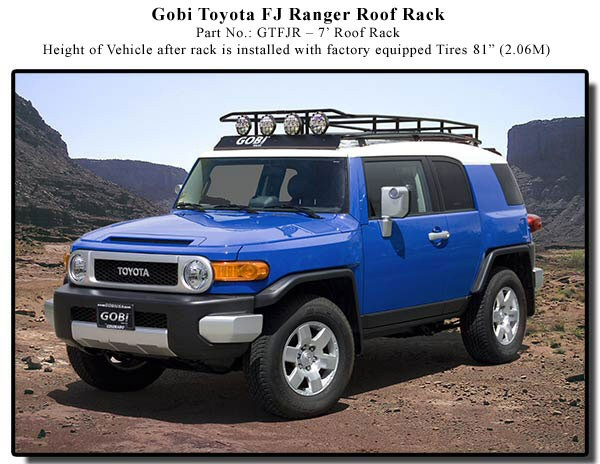 Fj Cruiser Roof Racks : Fj cruiser gobi ranger roof rack  free shipping