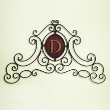 Iron Scroll Monogrammed Wall Grille for Personalized Home Decor