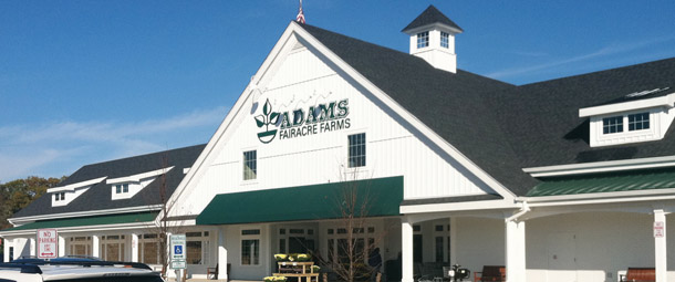 ADAMS FAIRACRE FARMS, Newburgh, Poughkeepsie, Lake Katrine, & Wappinger Falls, NY