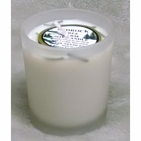 VOTIVE HAND POURED IN FROSTED GLASS HOLDER 2 oz.