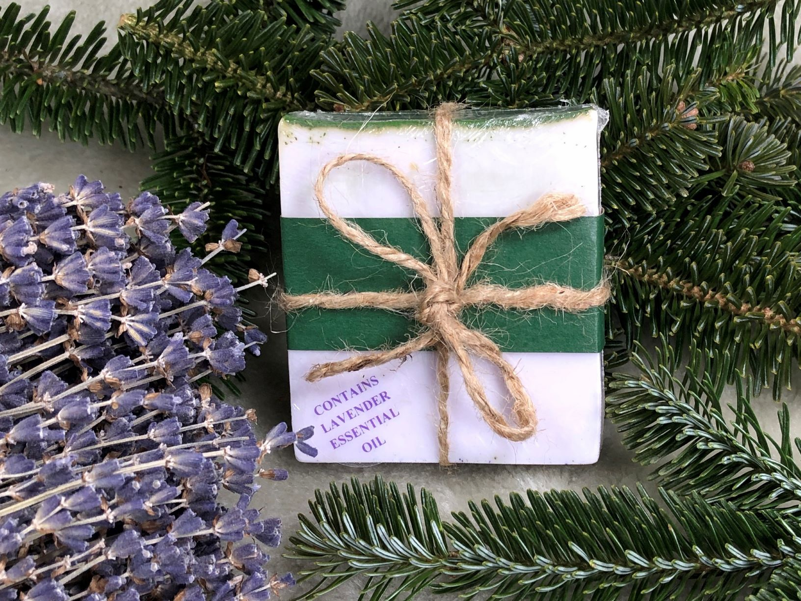 LAVENDER/FIR WRAPPED SOAP