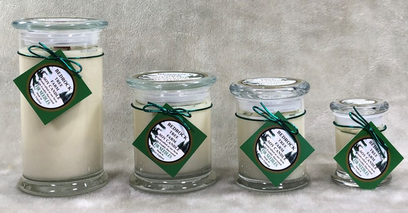 LIBBEY JARS with WOODEN WICKS