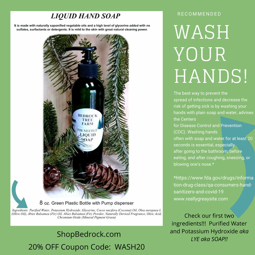 FIR NEEDLE LIQUID HAND SOAP - ON SALE NOW! COUPON CODE - WASH20