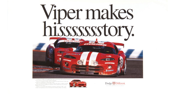 Dodge Viper GTS 24 Hours of Daytona Collectors Poster