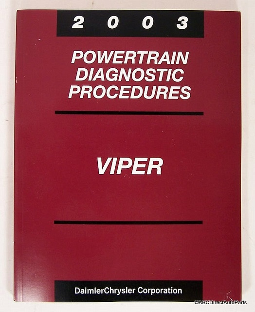 2003 Dodge Viper SRT-10 Engine Technical Book Manual
