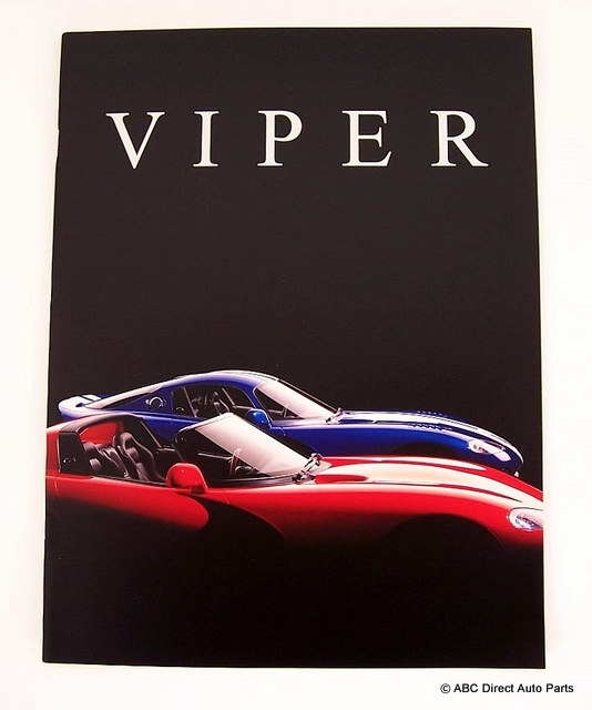 1997 Dodge Viper RT/10 & GTS Dealer Sales Brochure