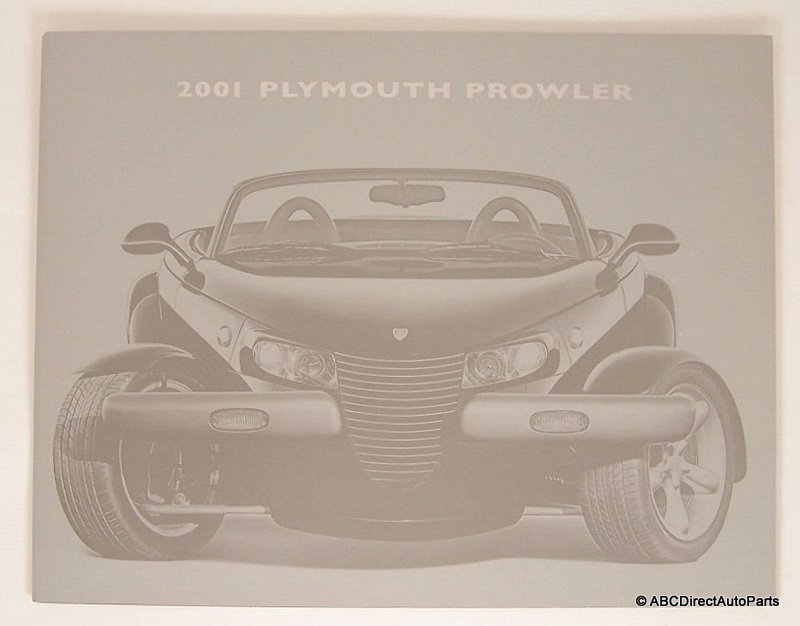 2001 Plymouth Prowler Saver Dealer Sales Brochure